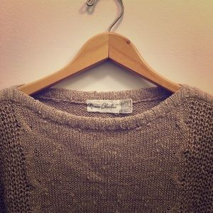Vintage boatneck slouch sweater XS